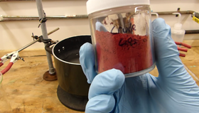 Crude chromium trioxide by Doug's Lab.png