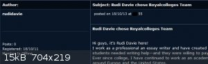 Sciencemadness Discussion Board - Rudi Davie chose Royalcolleges Team - Powered .png - 15kB