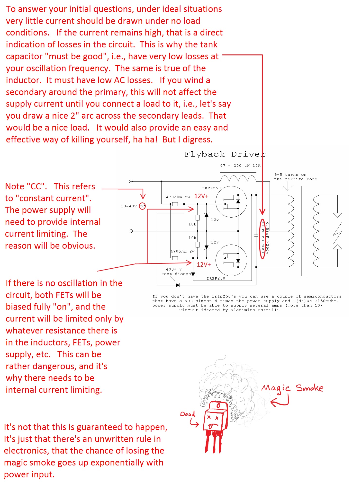 Sciencemadness Discussion Board Dangers Risks Of Mazilli Zvs Heres An Online Schematic The Induction Heater Circuit Http Page1 682kb