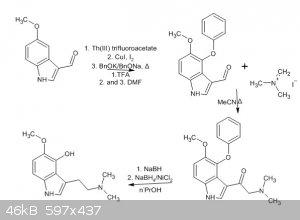 psilomethoxin via aminoketone from indolylcarboxaldehyde.jpg - 46kB